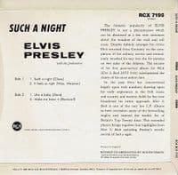 ELVIS PRESLEY Such A Night EP Vinyl Record 7 Inch RCA